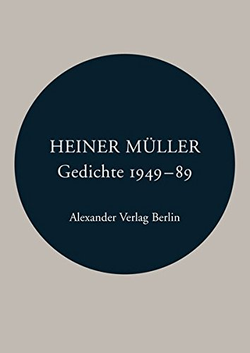 Gedichte 1949 - 1989