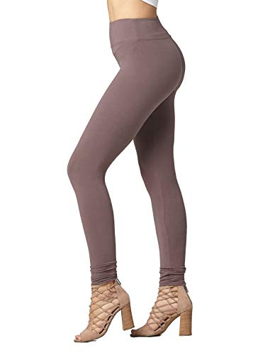 Conceited Super Soft High Waisted Leggings for Women - Full Length Vintage Violet - Small/Medium (0-10)