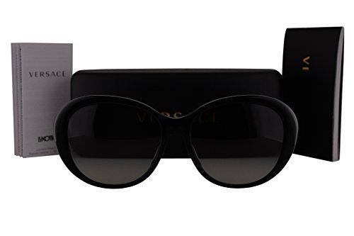 Versace VE4324BA Sunglasses Black w/Grey Gradient Lens GB111 VE 4324-B-A VE 4324BA - 2140 Sunglasses Versace