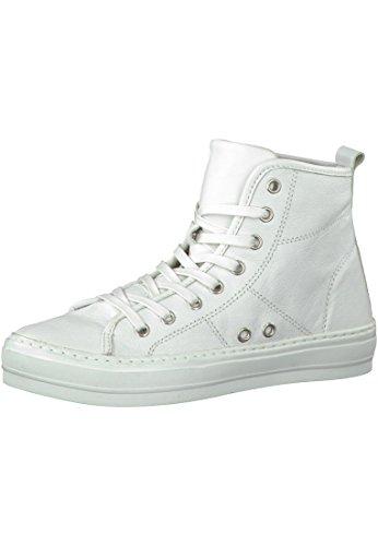 Tamaris Leder Sneaker High Weiß 1-25207-26 100 White Weiß