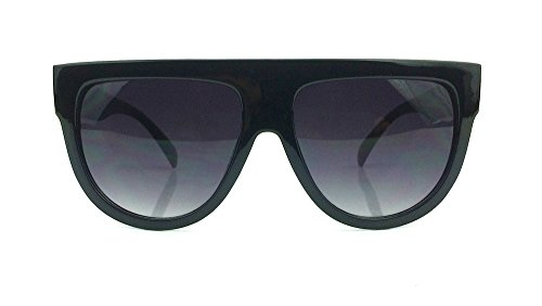 Square Aviator Flat Top Oversized Frame Dark Lenses Shadow - Sunglasses Shadow