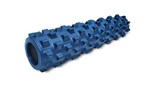 RumbleRoller - Mid Size 22 Inches - Blue - Original - Textured Muscle Foam Roller - Relieve Sore Muscles- Your Own Portable Massage Therapist - Patented Foam Roller Technology