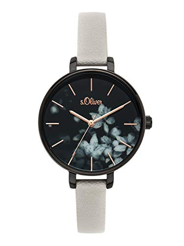 s.Oliver Time Womens Analogue Quartz Watch with PU Strap SO-3590-LQ