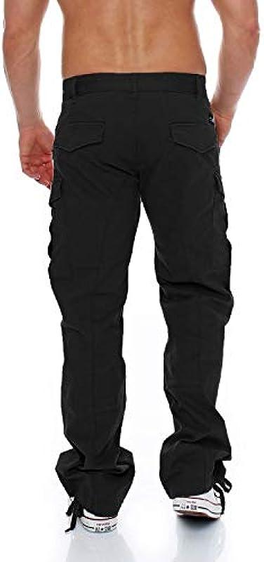 Big Seven Brian Cargo spodnie męskie dżinsy Comfort Fit czarne: Odzież
