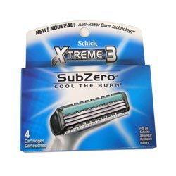 Schick Xtreme3 Subzero Cool The Burn Refills - 32 Cartridges
