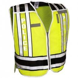 ML Kishigo 4001BZ-M-XL 400 Series Public Safety Vest POLICE Lime/Black M-XL