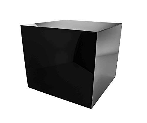 Marketing Holders Platform Display Box Art Sculpture Pedestal Collectible Cube Cover Trophy Trinket Acrylic Showcase Stand Expo Event Wedding Reception 5 Sided 12