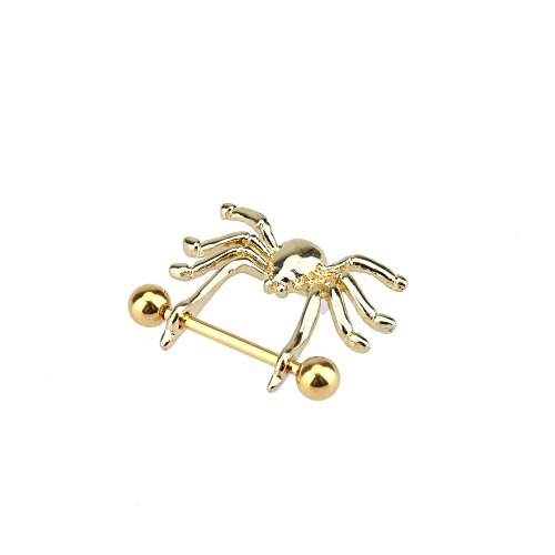 Gold Spider Style Nipple Shield Piercing Barbell Ring Nipple Ring Body Jewelry
