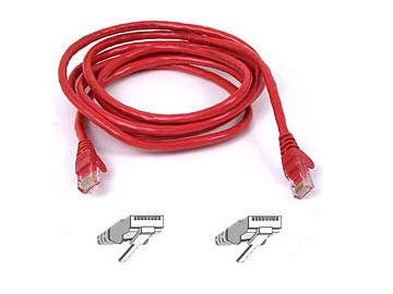 RJ-45 MALE MALE A3L850-07-RED-S PATCH CABLE 7 FEET RJ-45 EIA//TIA-568B CATEGORY 5E -