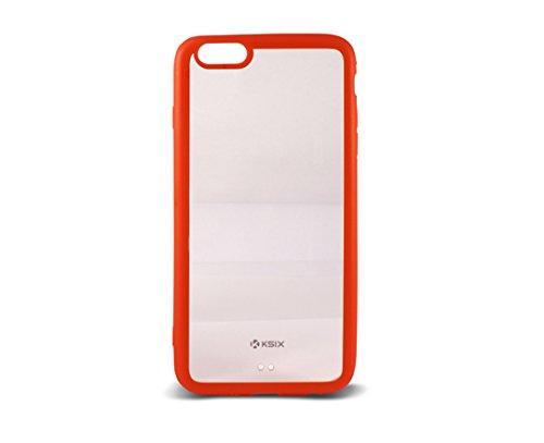 Ksix B0926CF07 Hard Cover Fusion für Apple iphone 6 Plus 14 cm (5,5 Zoll) transparent/rot