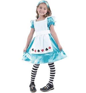 [Large Girls Alice In Wonderland Costume] (Alice In Wonderland Costumes For Kids)