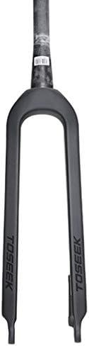 SN 1-1 / 8 '(28.6mm) マウンテンバイク サスペンションフォーク、 カーボンファイバー コーンチューブ 3K 自転車 ハードディスク ブレーキ 26 / 27.5 / 29 ブラック (Color : A, Size : 27.5inch)