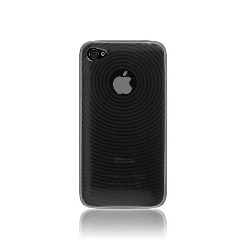 Katinkas Circle Housse en silicone TPU pour Apple iPhone 4 Noir