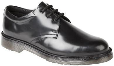 Grafters Mens Black Hi-Shine Leather