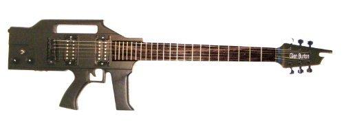 Custom Glen Burton Solid Body Machine Gun Guitar, Black. for sale  Delivered anywhere in Canada