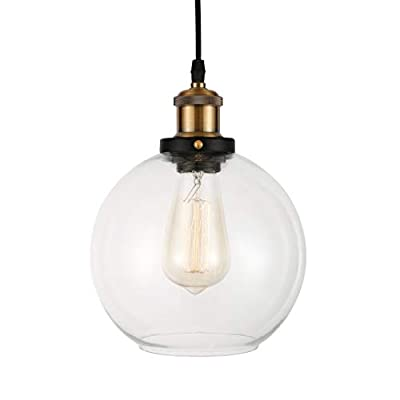 BAYCHEER HL409803 Industrial Vintage Style Clear Glass Globe Mini Pendant Light - Ceiling Lighting - Ceiling Lamp with 1 light