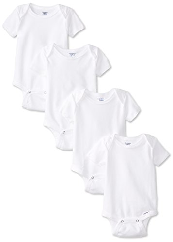 Gerber Unisex-Baby Newborn 4 Pack Organic Onesies Brand, White, 0-3 Months (Best Infant Clothing Websites)