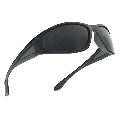 Men Limited Edition Super Dark Shades Wrap Around Motorcycle Biker Sunglasses (Matte Black, Black) (Old School Biker Sunglasses)