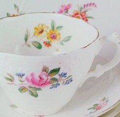 Coalport Embossed Sevres 9717 Cup and Saucer by Embossed Sevres