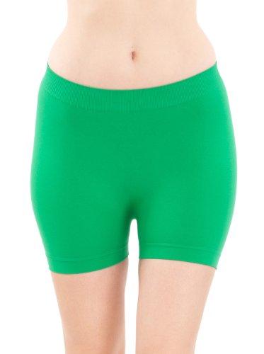 Seamless Green Hot Shorts Hot Pants