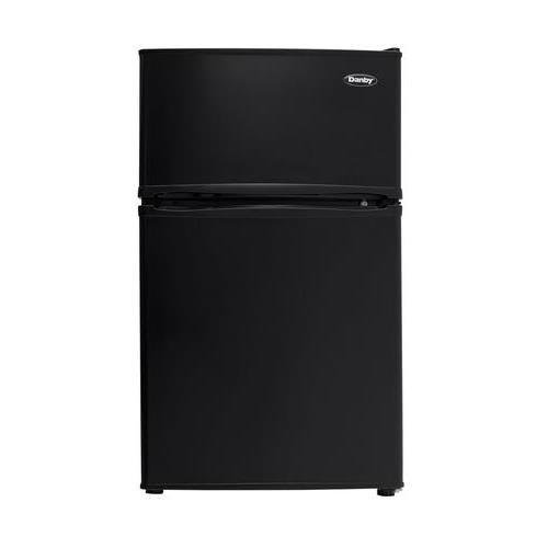 Danby VD-22672EPBK DCR032C3BDB Double Door Compact Refrigerator, Black