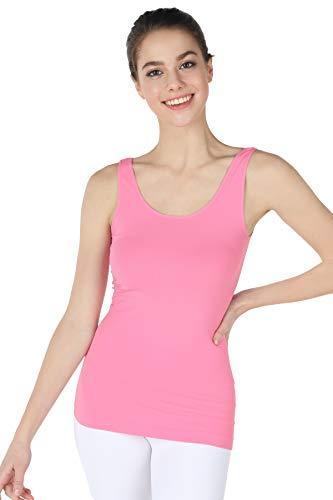 NIKIBIKI Women Seamless Premium Classic Tank Top, Made in U.S.A, One Size (Lite Pink) ()