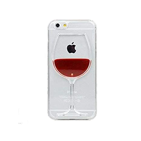 Giggle Liquid 3D Wine Glass Soft Back Cover for Xiaomi Redmi Mi 4A  Red