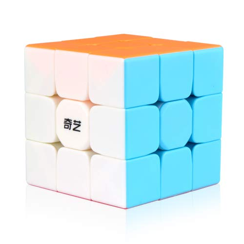 YCBABY Qiyi Warrior W Speed Cube 3x3- Stickerless Magic Cube 3x3x3 Puzzles Toys (56mm), The Most Educational Toy to Effectively Improve Your Child's Concentration, responsiveness and Memory