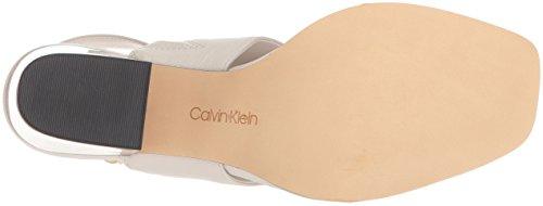 Heeled Soft Calvin Rosemary Klein Women's White Sandal qPggztnw