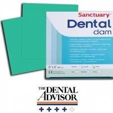 Dighe Dentali Dental Dam - Sanctuary Colore: verde Resistenza: media Aroma: menta Codice: 00340801