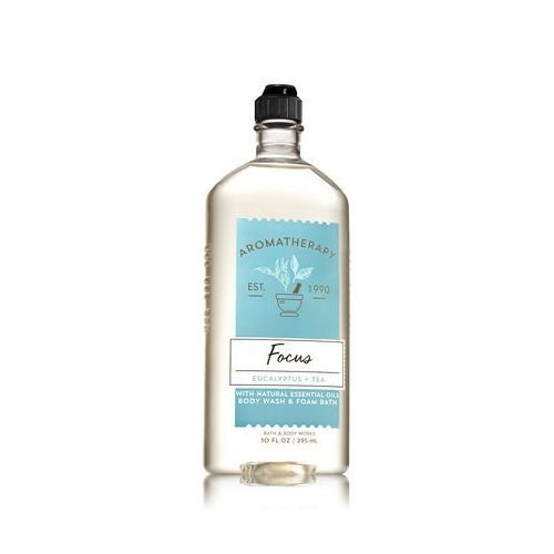 Bath & Body Works Aromatherapy Focus - Eucalyptus + Tea Body Wash & Foam Bath, 10 Fl Oz by Bath & Body Works