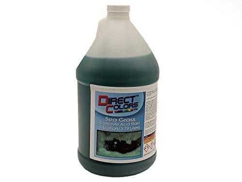 Concrete Acid Stain, Professional Grade Concrete Etching, Cement Stain 1 Gallon, Sea Grass - Direct Colors