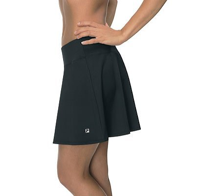Fila Tennis Skirt - Fila Women's Long Flirty Waistband Skorts M Black