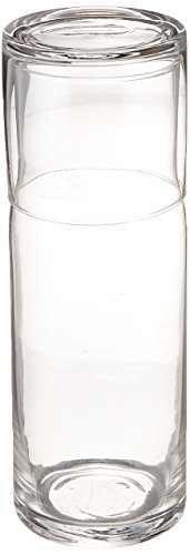 Style Setter Soho 2 Piece Round Water Set, Clear (Carafe Glass Set)