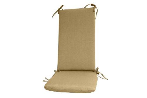 (Paradise Cushions Indoor/Outdoor 2-Piece Seat/Back Rocker Cushion, Sand)