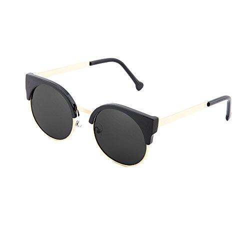 Gafas mujer Bronce TWIG hombre redondo Negro de sol espejo HEGEL PPx1Tq