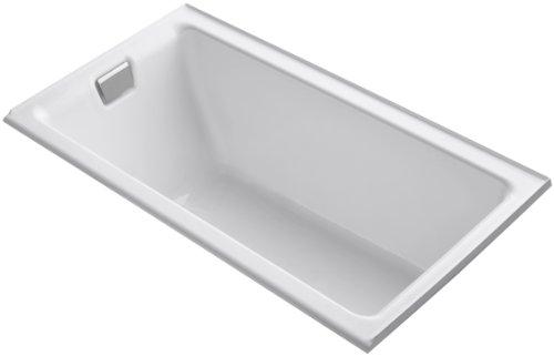 (KOHLER K-855-L-0 Tea-for-Two 5.5-Foot Bath, White)