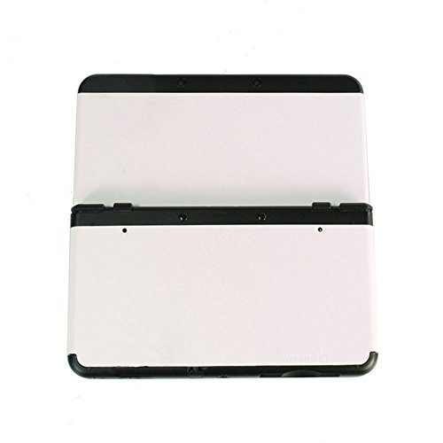 New Cover Housing Faceplate (For Nintendo New 3DS 2015 Version Front Back Faceplate Plates Upper & Back Battery Housing Shell Case Cover (White))