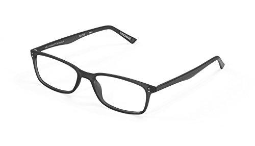 Gels Lightweight Fashion Readers - The Original Reading Glasses for Men and Women - Manhattan Frame, Black (+1.75 Magnification Power) - Scojo Reading Glasses Gels