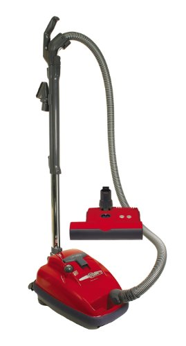 SEBO 9687AM Airbelt K3 Canister Vacuum with ET-1 Powerhead and Parquet Brush, Red – Corded