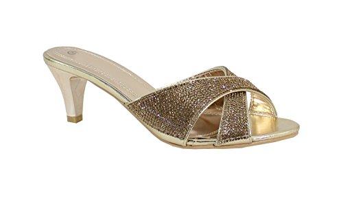 Femme à Talon Strass By Beige Escarpin Aiguille Shoes pHHAqa