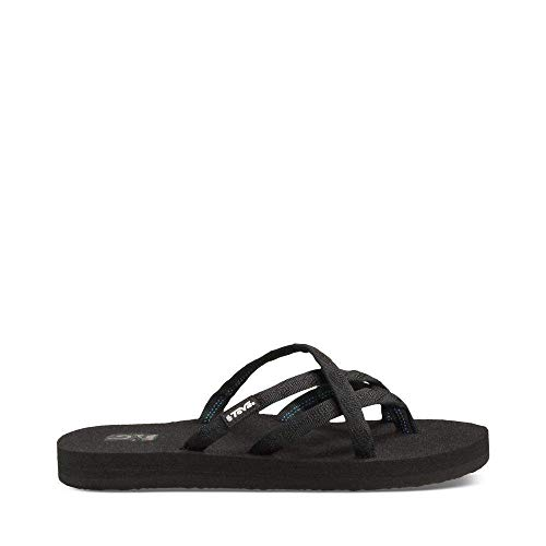 Teva Women's Olowahu Flip-Flop - 11 B(M) US - Mix Black on (Mix Flip Flops Thong Sandals)