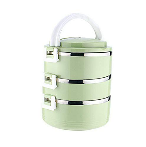 660f54e8d891 Amazon.com: Mikash Round Stainless Steel Thermal Insulated Lunch Box ...