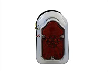Chrome Tombstone Tail Lamp Assembly,for Harley Davidson,by V-Twin