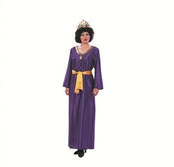 RG Costumes Women's RG Queen Eshther Adult 2 pc Costume, Purple/Yellow, One Size]()