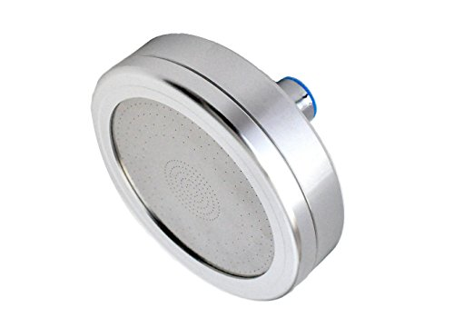 Filtered Shower Head: All Metal:Reduces Chlorine and Dissolved Solids : Enhanced Pressure : Helps Dry Hair and Itchy Skin - Oversized Rain Shower: By Barclays - Filtered Mount Wall