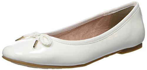 Tamaris Bianco Patent Donna 22123 White Ballerine rpqrz