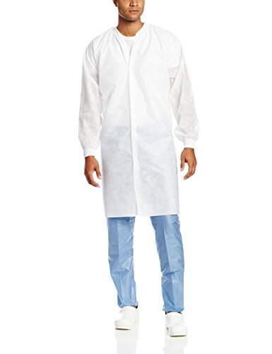 (ValuMax NP3560WH2XL No Pocket Easy Breathe Cool and Strong, No-Wrinkle, Disposable SMS Knee Length Lab Coat, White, 2XL, Pack of 10)
