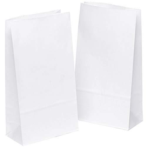 kgpack 50 piezas Bolsas de Papel Regalo 14 x 26 x 8 cm - Bolsa Biodegradable Regalos Comunión para Invitados o para Guardar Comida Semillas Flores ...