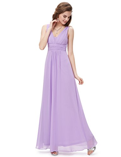 Ever Lavanda 08110 Vestido de V Mujer Imperio Escote en para Largo Noche Pretty Corte O6FrSO